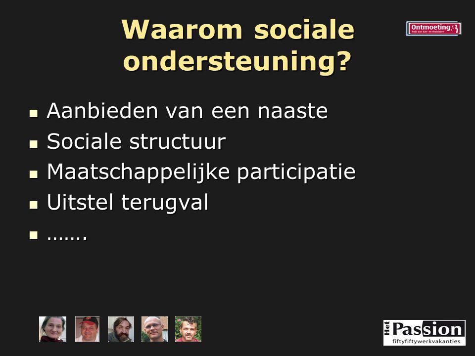 Waarom sociale ondersteuning