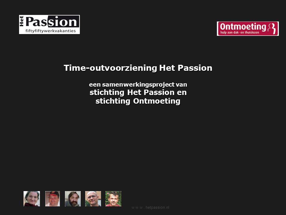Time-outvoorziening Het Passion een samenwerkingsproject van stichting Het Passion en stichting Ontmoeting
