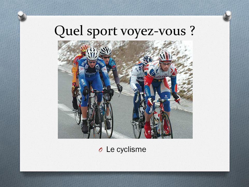 Quel sport voyez-vous Le cyclisme