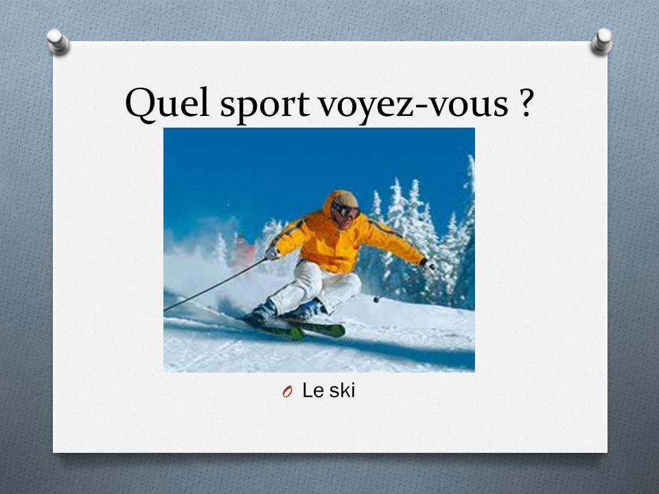 Quel sport voyez-vous Le ski