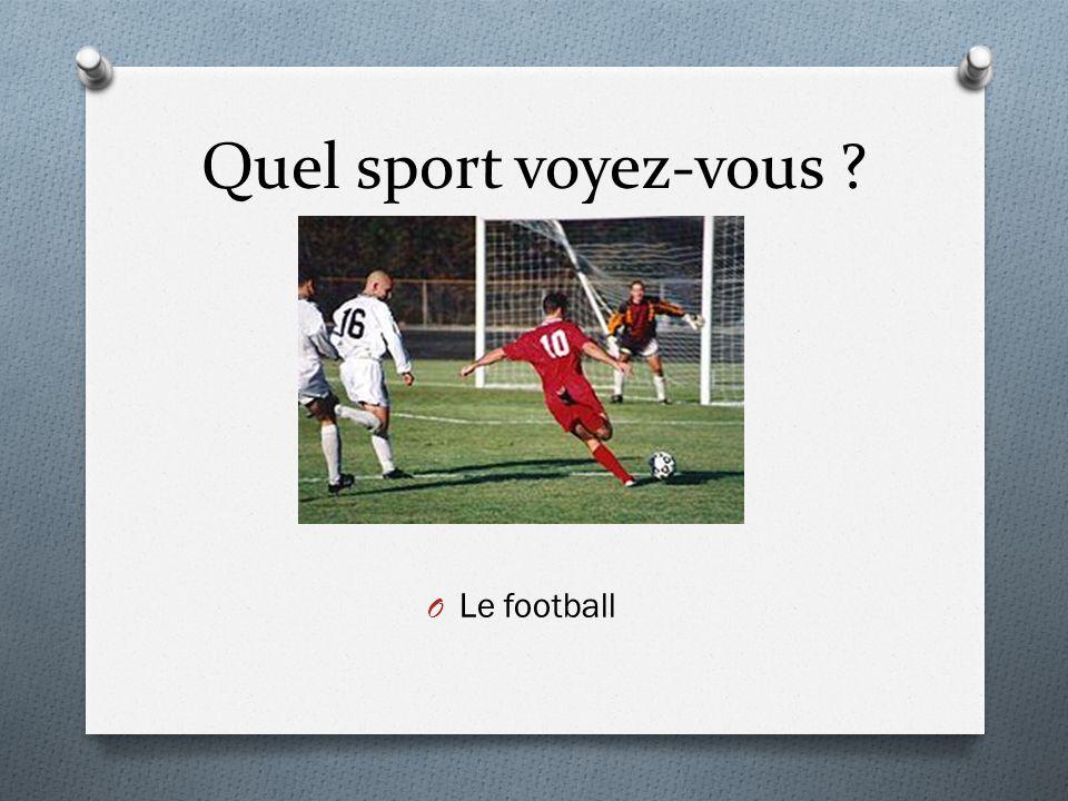 Quel sport voyez-vous Le football