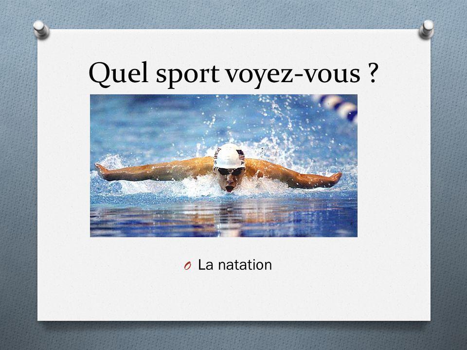Quel sport voyez-vous La natation
