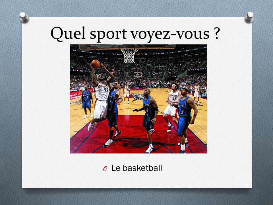Quel sport voyez-vous Le basketball