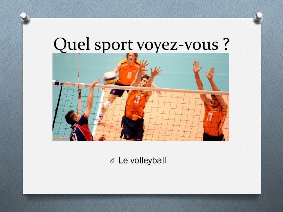 Quel sport voyez-vous Le volleyball