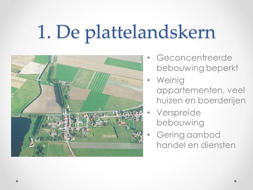 1. De plattelandskern Geconcentreerde bebouwing beperkt