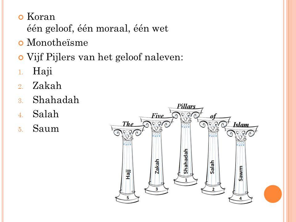 Koran één geloof, één moraal, één wet