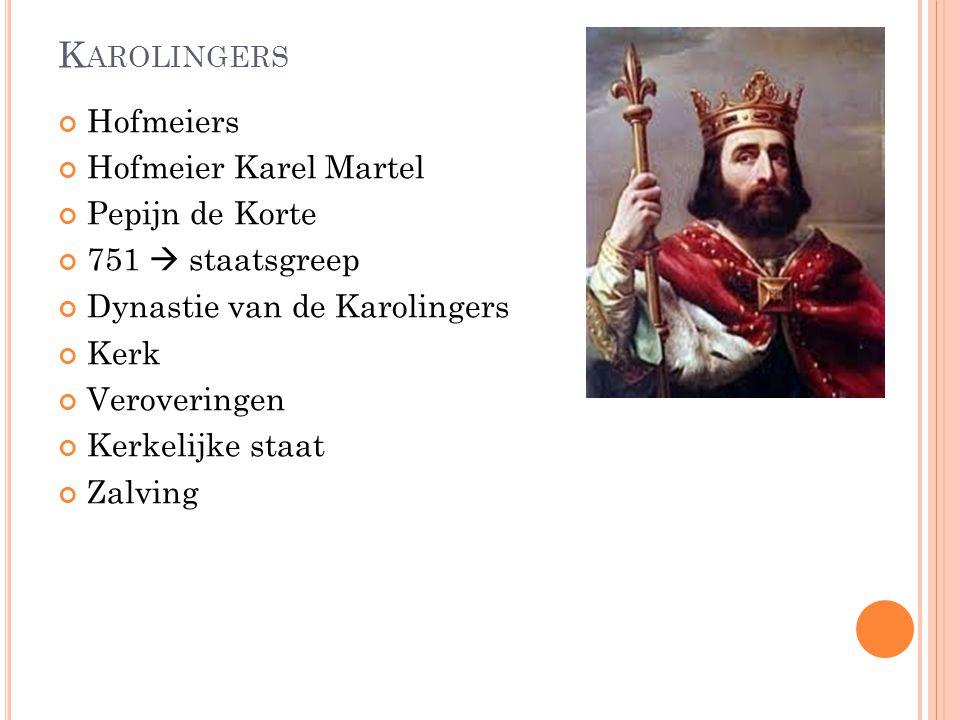 Karolingers Hofmeiers Hofmeier Karel Martel Pepijn de Korte