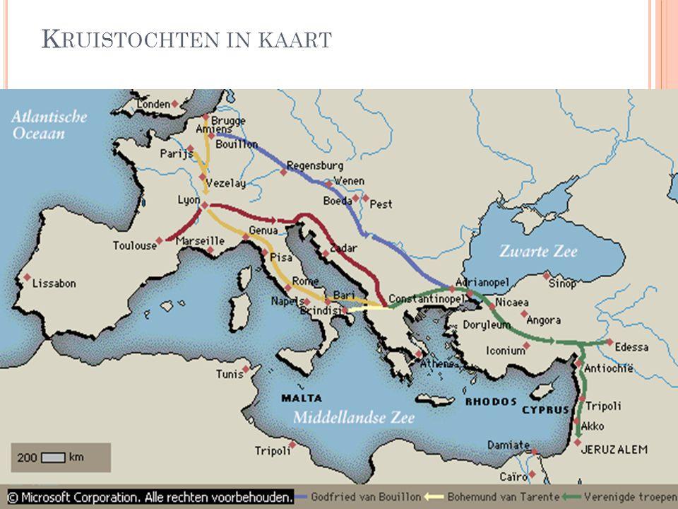 Kruistochten in kaart