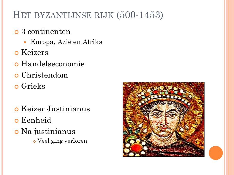 Het byzantijnse rijk (500-1453)