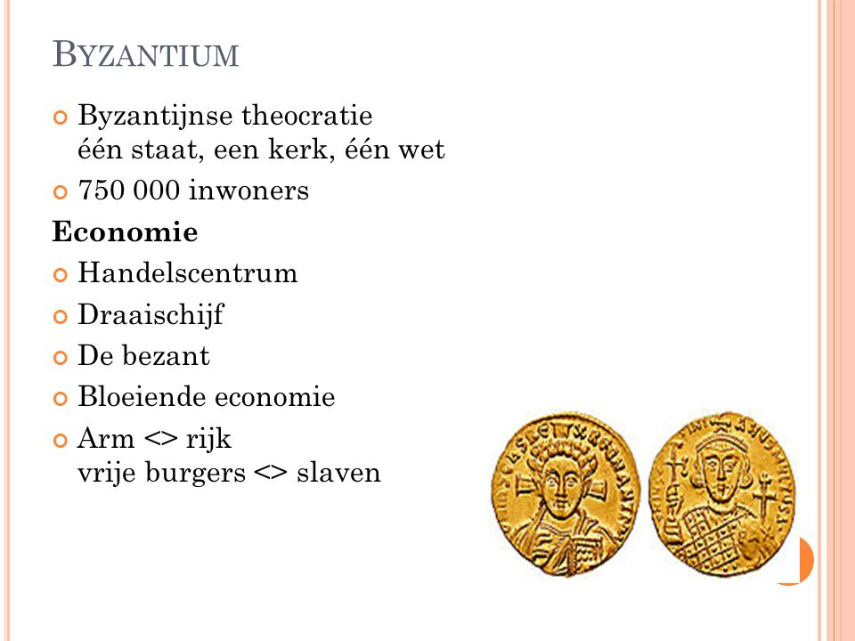 Byzantium Byzantijnse theocratie één staat, een kerk, één wet