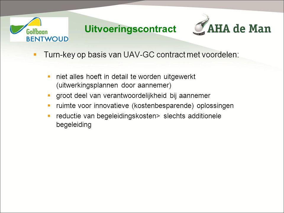 Uitvoeringscontract Turn-key op basis van UAV-GC contract met voordelen: