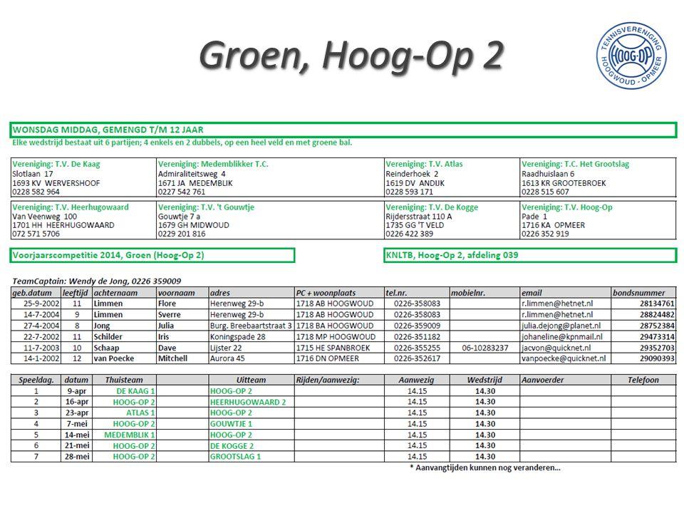 Groen, Hoog-Op 2