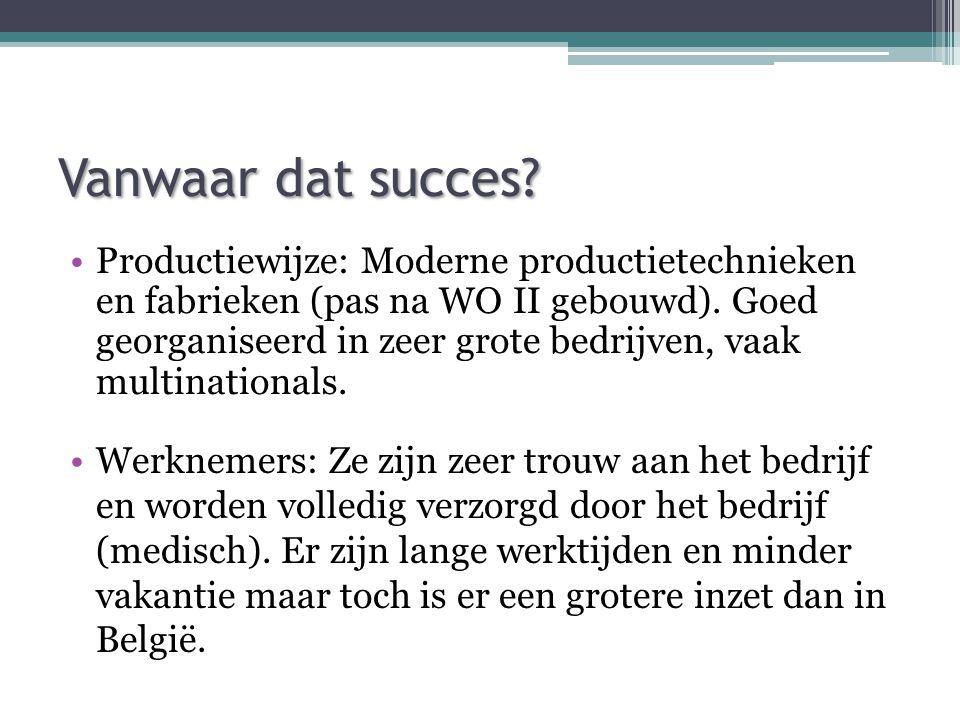 Vanwaar dat succes