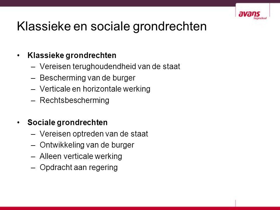Klassieke en sociale grondrechten