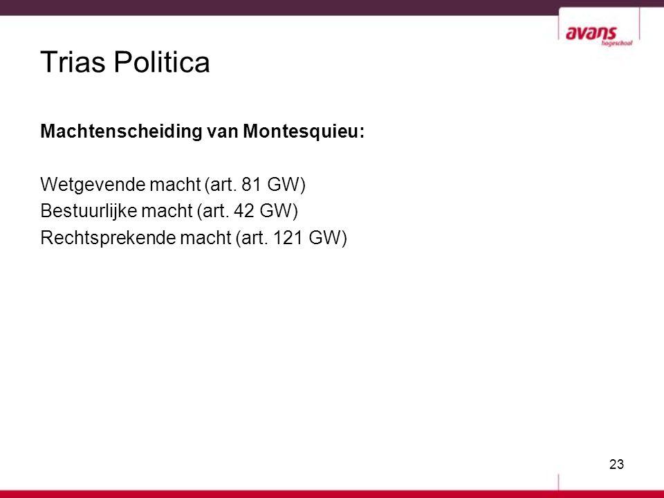 Trias Politica Machtenscheiding van Montesquieu: