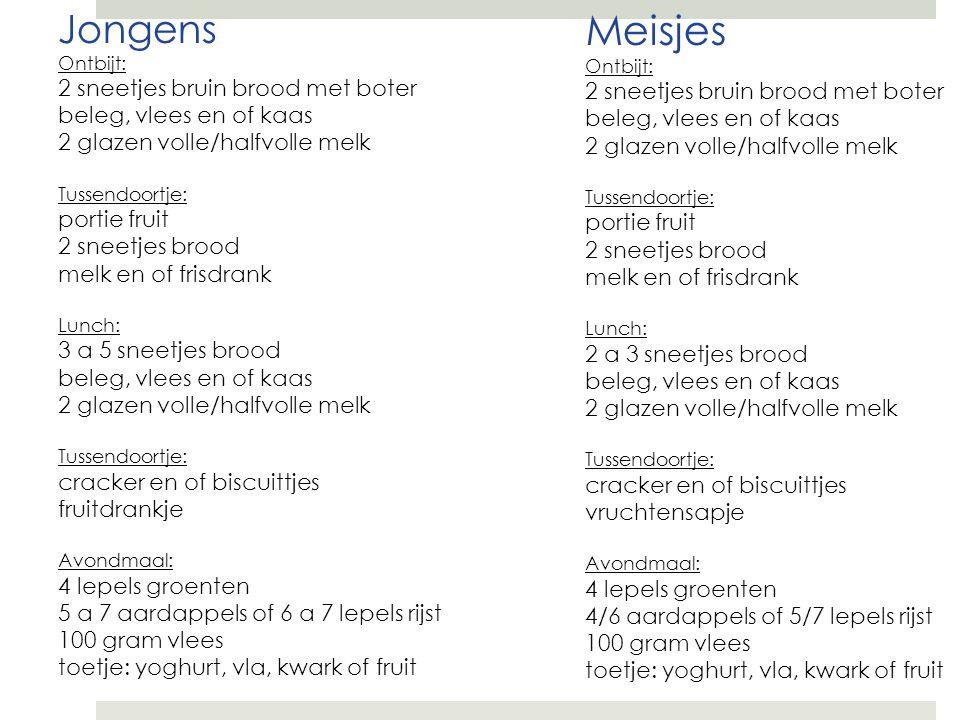 Meisjes Ontbijt: 2 sneetjes bruin brood met boter