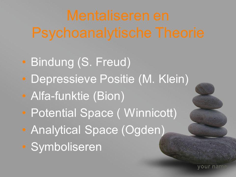 Mentaliseren en Psychoanalytische Theorie