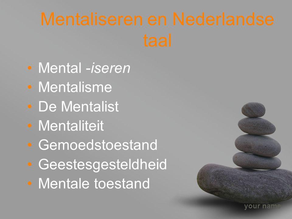 Mentaliseren en Nederlandse taal