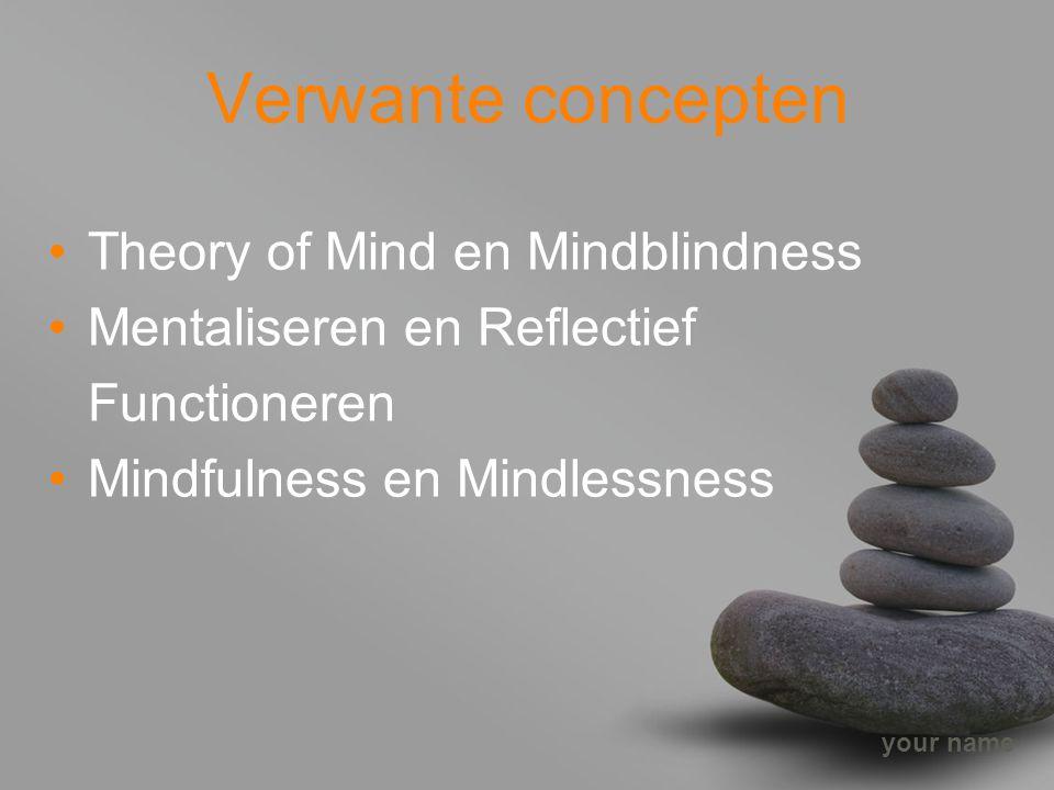 Verwante concepten Theory of Mind en Mindblindness