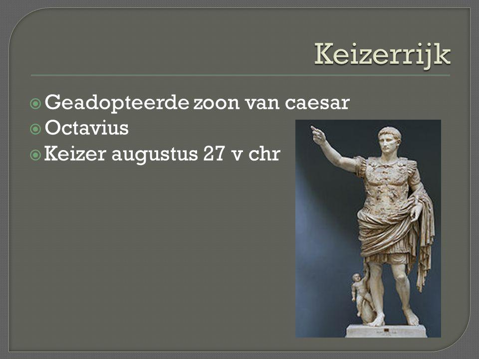 Keizerrijk Geadopteerde zoon van caesar Octavius