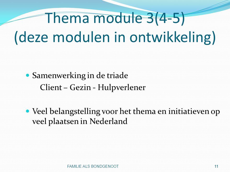 Thema module 3(4-5) (deze modulen in ontwikkeling)