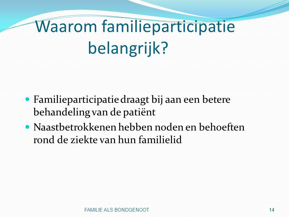 Waarom familieparticipatie belangrijk