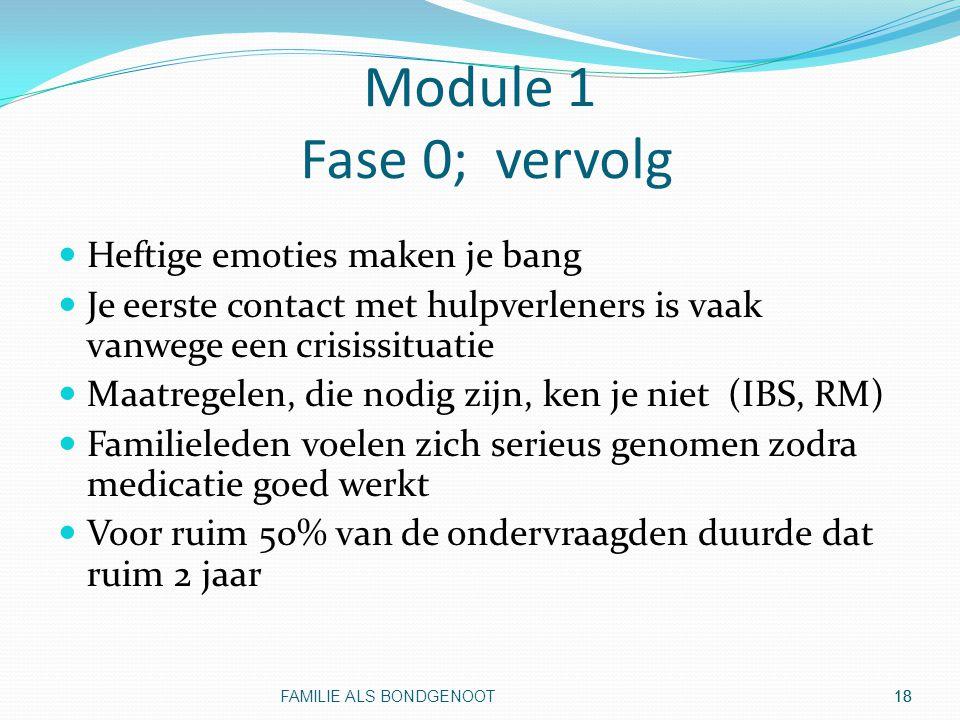 Module 1 Fase 0; vervolg Heftige emoties maken je bang