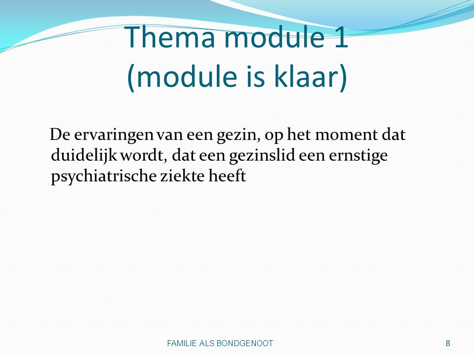 Thema module 1 (module is klaar)