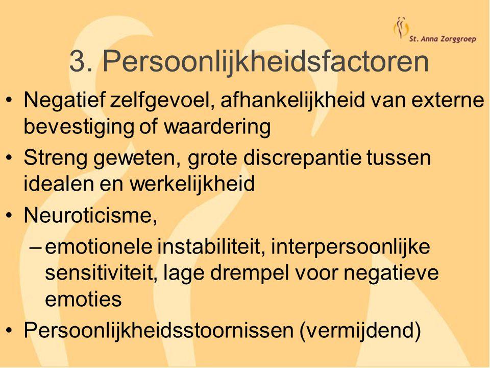 3. Persoonlijkheidsfactoren