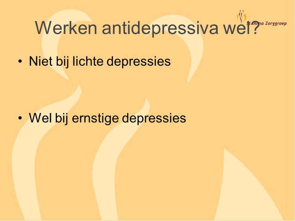 Werken antidepressiva wel