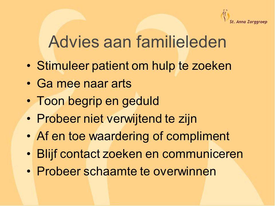 Advies aan familieleden