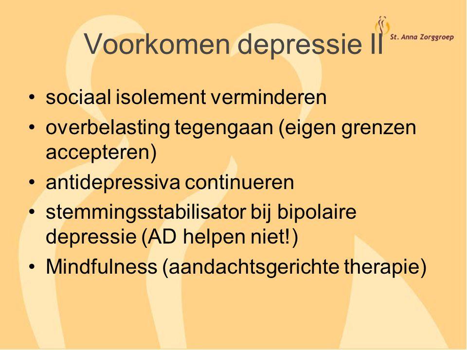 Voorkomen depressie II