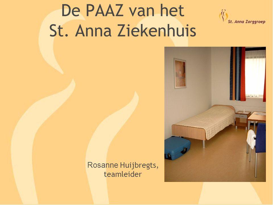 De PAAZ van het St. Anna Ziekenhuis Rosanne Huijbregts, teamleider