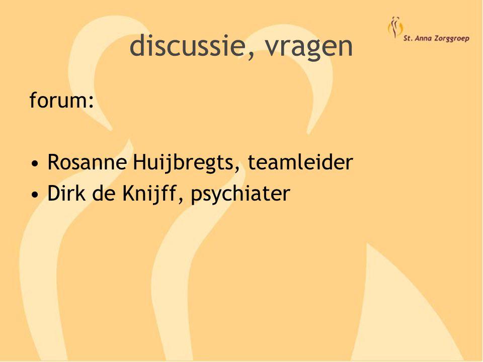 discussie, vragen forum: Rosanne Huijbregts, teamleider