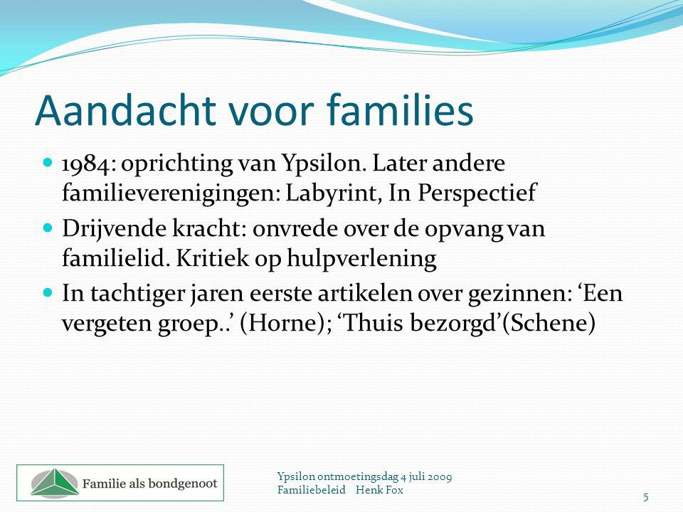 Aandacht voor families