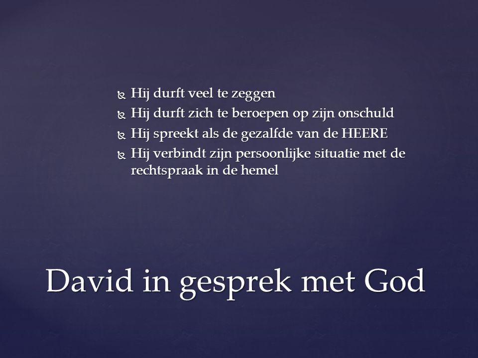 David in gesprek met God