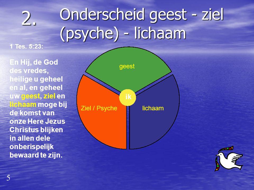 2. Onderscheid geest - ziel (psyche) - lichaam 5