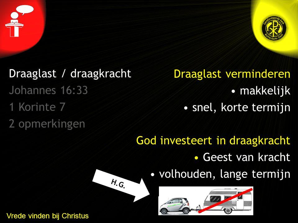 Draaglast / draagkracht Johannes 16:33 1 Korinte 7 2 opmerkingen