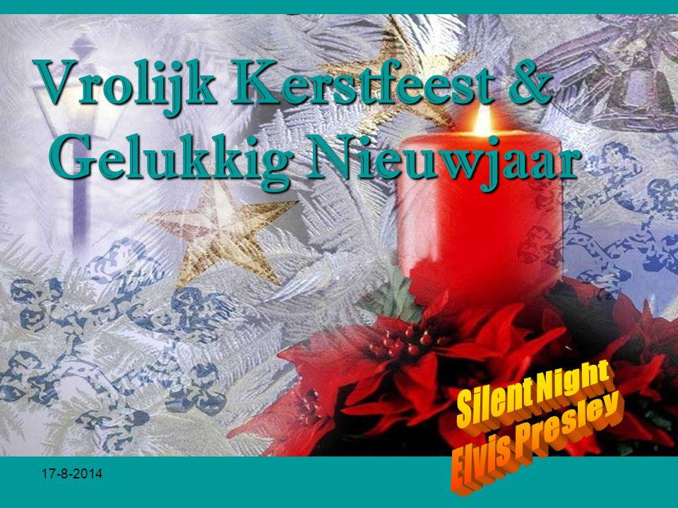 Vrolijk Kerstfeest & Gelukkig Nieuwjaar Silent Night Elvis Presley