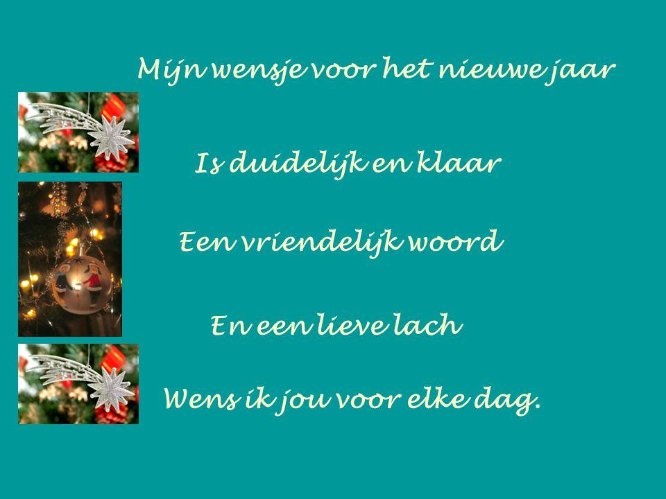 Mijn wensje voor het nieuwe jaar