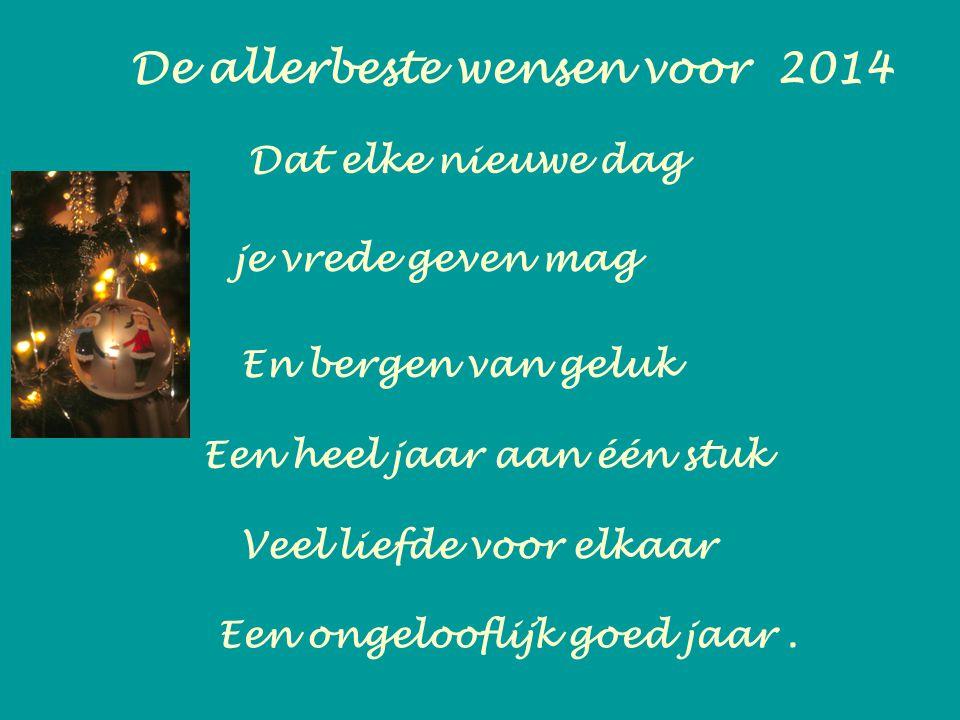 De allerbeste wensen voor 2014