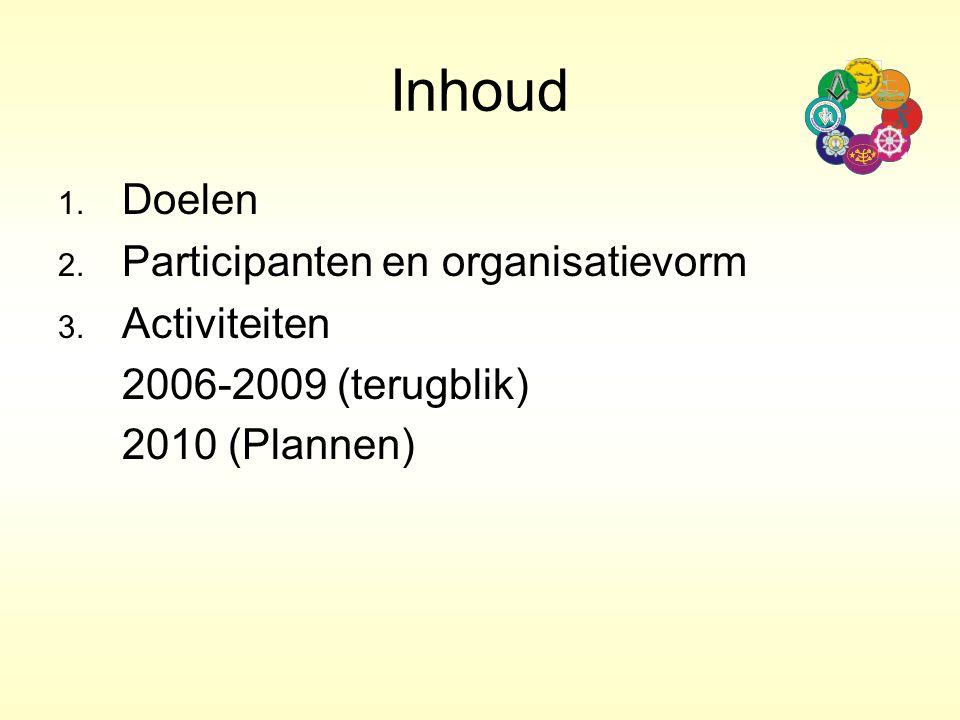 Inhoud 2006-2009 (terugblik) 2010 (Plannen) 1. Doelen