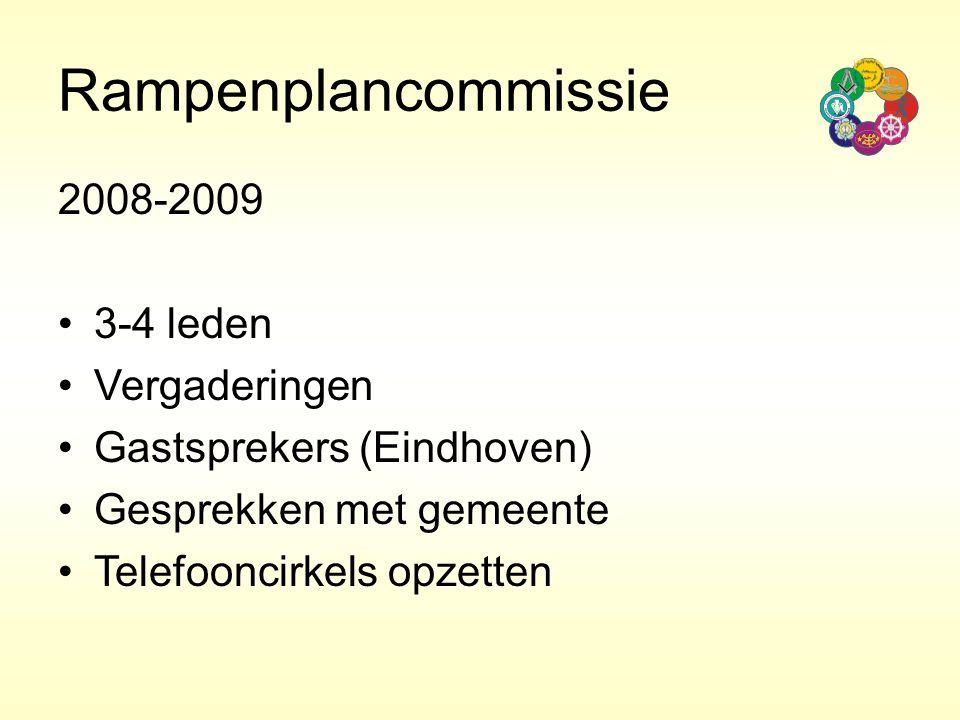Rampenplancommissie 2008-2009 3-4 leden Vergaderingen