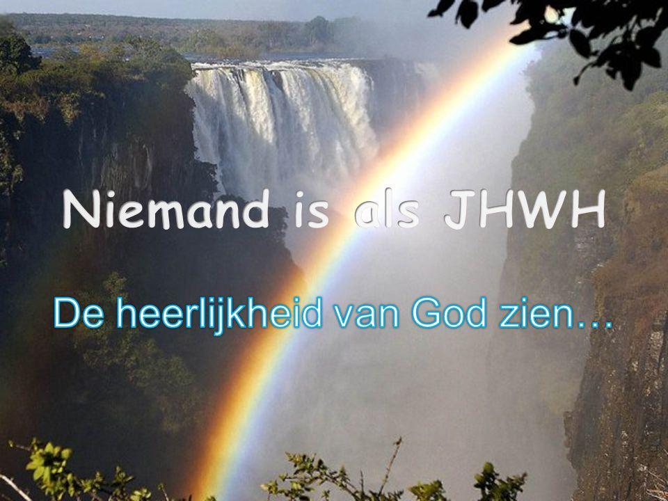 De heerlijkheid van God zien…