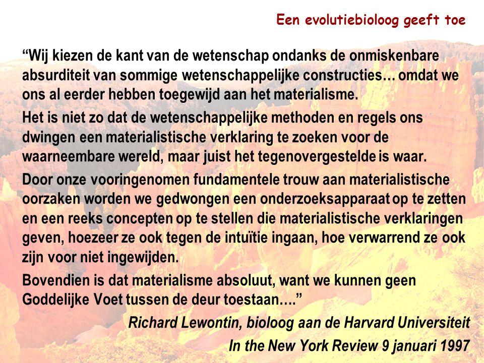 Een evolutiebioloog geeft toe