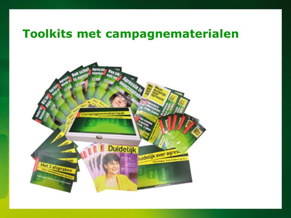 Toolkits met campagnematerialen