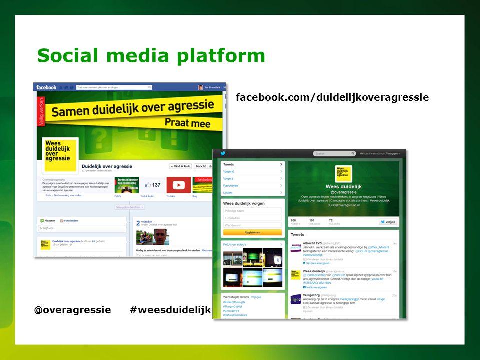 Social media platform facebook.com/duidelijkoveragressie