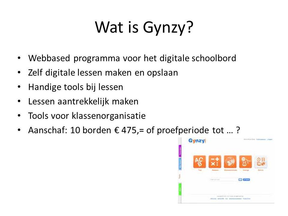 Wat is Gynzy Webbased programma voor het digitale schoolbord