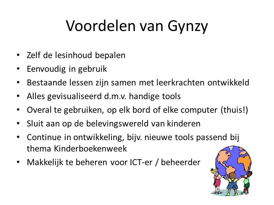 Voordelen van Gynzy Zelf de lesinhoud bepalen Eenvoudig in gebruik