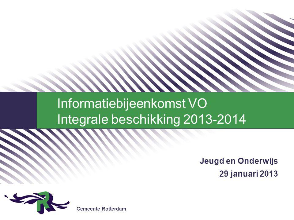 Jeugd en Onderwijs 29 januari 2013